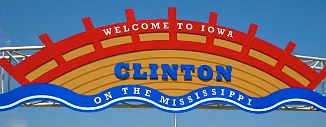 A picture Clinton Welcome Sign